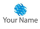 Ökologisch, Spirale, Wellen, Wasser, Logo