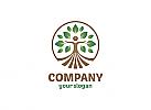 Öko, Ökologie, Zeichnung, Zeichen, Symbol, Mensch, Natur, Baum, Feld Logo