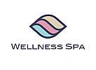 Zeichen, Signet, Symbol, Muschel, Wasser, Sand, Wellness, Spa, Logo