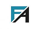 Zeichen, zweifarbig, Signet, Symbol, A, F, Logo