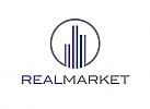 ö, Zeichen, zweifarbig, Signet, Symbol, Säulen, Marketing, Immobilien, Invest, Geld, Finanzen, Logo