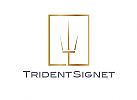 Ö, Zeichen, Signet, Symbol, Trident, Dreizack, T, Logo