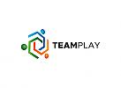 Ö, Zeichen, Team Play, Menschen, Gruppe, Logo