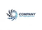 Ö, Spiralen, Stern, Punkte, Daten, Medien, Daten, Marketing, Beratung, Consulting Logo