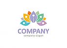 Ökologie Logo, Lotus Logo, Yoga Logo, Blume Logo, Natur Logo, Wellness, Spa, Kosmetik, Massage, Hotel
