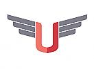 Zeichen, zweifarbig, Schild, Wappen, Flügel, U, Logo