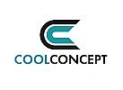 Zeichen, zweifarbig, Signet, Handwerk, Bau, Technik, Concept, C, Logo