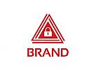 Dreieck Logo, Sicherheit Logo, Vorhängeschloss Logo, Sicherheit Logo, Alarm Logo, Firma Logo, Unternehmen Logo, Beratung Logo, Logo, Grafikdesign, Design, Branding