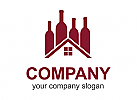 Wein Logo, Weingut Logo, Getränke Logo, Haus Logo