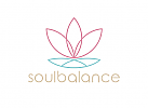 Zeichen, zweifarbig, Signet, Symbol, Yoga, Meditation, Lotus, Blume, Wellness, Logo