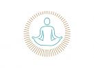 Zeichen, Signet, Symbol, Yoga, Meditation, Entspannung, Logo