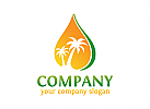 Öl logo, Palme logo, Ökologie Logo, Blume Logo, Natur Logo, Wellness, Spa, Kosmetik