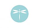 Zeichen, Signet, Libelle, Kreis, Logo