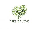 öko, Zeichen, zweifarbig, Signet, Symbol, Natur, Baum, Herz, Logo