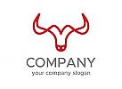 Hörner Logo, Stier Logo, Büffel Logo, Firma Logo, Unternehmen Logo, Beratung Logo, Logo, Grafikdesign, Design, Branding