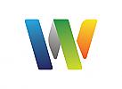 Buchstabe W Logo, Symbol W Logo, Technologie Logo, Kommunikation Logo, Internet Logo, Cyber, Sicherheit, Programmierung, Computer