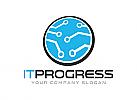 Technologie Logo, Kommunikation Logo, Internet Logo, Cyber logo, Sicherheit logo, Programmierung logo, Computer logo,Kreis logo