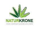 Öko logo, Natur logo, Ökologie logo, Krone logo, Grün logo