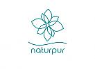 Öko, Zeichen, Signet, Symbol, Natur, Pflanze, Blatt, Wellenlinie, Logo
