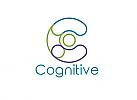 ö, Zeichen, Signet, Symbol, Cognitive, C, Logo