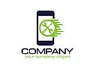 z Techniker logo, Reparatur logo, Smartphone logo, Schraubenschlüssel logo, Handy logo