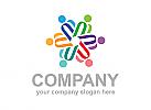 Menschen Logo, Bildung Logo, Gruppe logo, Pflege logo