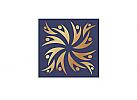 Zeichen, Signet, Symbol, Menschen, Quadrat, Ornament, Gold, Logo