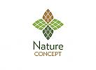 Öko, Zeichen, Signet, Symbol, Natur, Blatt, Tannenzapfen, Pinie, Abstrakt, Logo