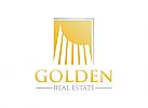 Immobilien, Finanzen, Gold, Bau, Makler, Logo