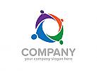 Menschen Logo, Bildung Logo, Gruppe logo, Pflege logo, Logo