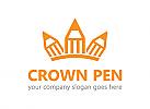 Stift, Krone, Schule, Bildung, Logo