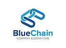 Kette, Verbindung, Medien, Technologie, Versicherung, Blau, Logo