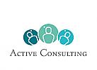 Zeichen, Menschen, Dreiergruppe, Consulting, Coaching