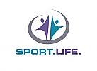 Zeichen, Signet, Symbol, Menschen, Sport, Fitness, Yoga, Coaching, Logo