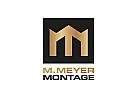 ö, Zeichen, zweifarbig, Signet, Symbol, Haus, Dach, Krone, Monteuer, Montage, M, Logo