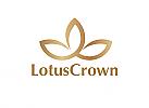 Zeichen, Signet, Symbol, Lotus, Blume, Yoga, Wellness, Logo