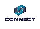 Zeichen, zweifarbig, Signet, Symbol, Verbindung, Coaching, Consulting, Logo