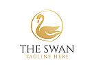 Schwan, elegant, Gold, Hotel, Logo