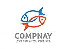Fisch, Restaurant, Aquarium, Logo