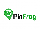 Frosch, Internet, Karte, Pin, Logo