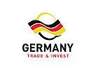 Finanzen, Investieren, Deutschland, Handel, Geld, Beratung, Logo