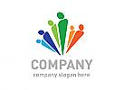 Team Logo, Menschen logo, Gruppe Logo, Beratung Logo, Arbeit Logo, kreativ Logo,Bunt Logo, Gewerkschaft logo, Hilfe logo, Kinder logo, Werkstatt logo