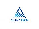 Ö, Buchstabe A, Dreieck, Medien, Technologie, Versicherung, Transport, Logistik Logo