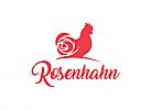 Hahn, Rose, Bauernhof, Kosmetik, Logo