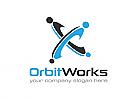 Arbeit, Umlaufbahn, Menschen, Beratung, Logo