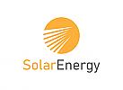 Energie, Sonne, Gold, Solar,Logo