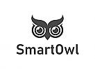 Eule Logo, Weisheit Logo, Schule Logo, Bildung Logo