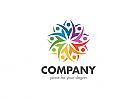 Ö, Menschen, Bildung, Gruppe, Firma Logo, Unternehmen, Beratung Logo, bunt, Team, Synergie, colorful