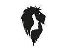 Zeichen, Signet, Symbol, Frau, Gesicht, Löwe, Logo
