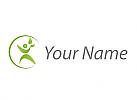 Ökomedizin, Person, Blätter, Logo